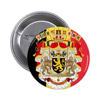 Belgium Flag & COA Pinback Button