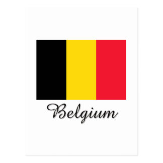 Belgium Flag Design Postcard