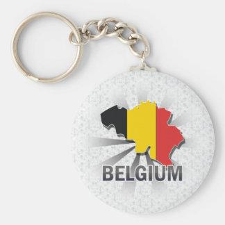 Belgium Flag Map 2.0 Keychain
