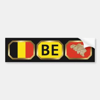 Belgium Flag Map Code Bumper Sticker Car Bumper Sticker