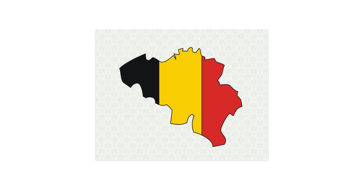 belgium flag map full size postcard | zazzle