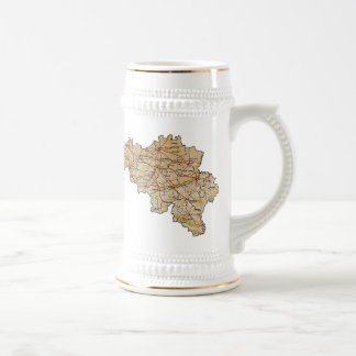 Belgium Flag ~ Map Mug