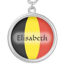 Belgium Flag   Name Necklace