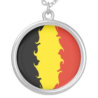 Belgium Flag Custom Necklace