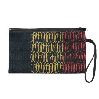 Belgium Flag of Paperclips Wristlet Purses