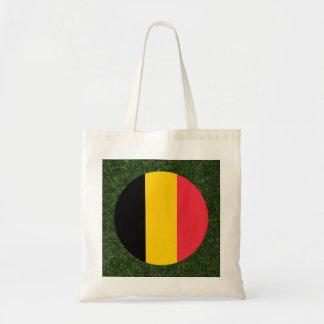 Belgium Flag on Grass Budget Tote Bag