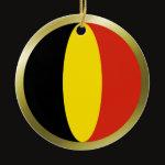 Belgium Fisheye Flag Ornament
