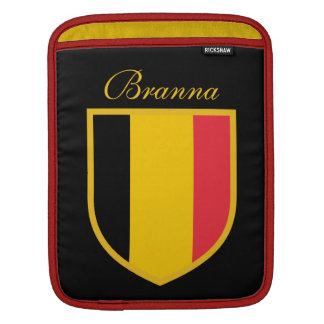 Belgium Flag Personal Sleeve For iPads