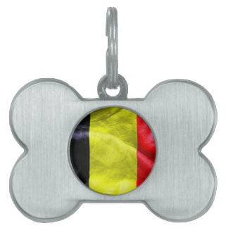 Belgium Flag Pet ID Tag