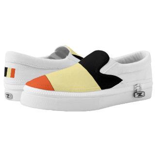 Belgium Flag -.png Slip-On Sneakers