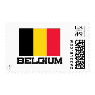 Belgium Flag Postage Stamps