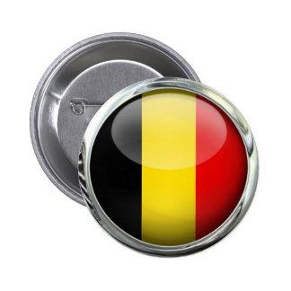 Belgium Flag Round Glass Ball Button