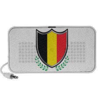Belgium Flag Shield w/ Laurels Portable Speakers