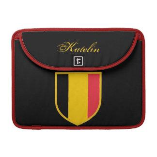 Belgium Flag Sleeves For MacBook Pro