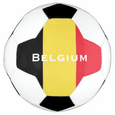 Belgium Flag Soccer Ball at Zazzle