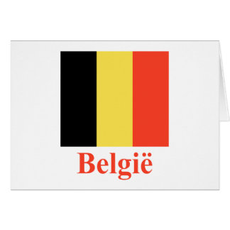 Belgium Flag with Name in Dutch Card