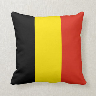 Belgium Flag x Flag Pillow