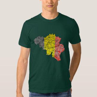 Belgium Flagcolor Map T-Shirt