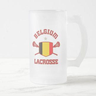 Belgium Frosted Glass Beer Mug