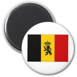 Belgium Government Ensign Flag 2 Inch Round Magnet