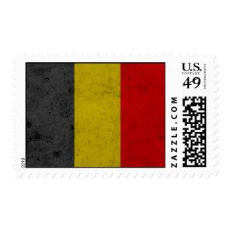 Belgium Grunge Flag Design Stamp