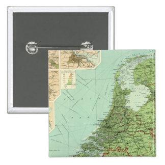 Belgium & Holland Pinback Button