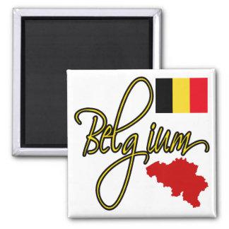 Belgium 2 Inch Square Magnet