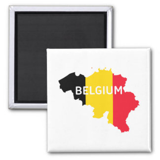 Belgium Map and Flag Magnet