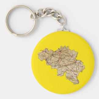 Belgium Map Keychain