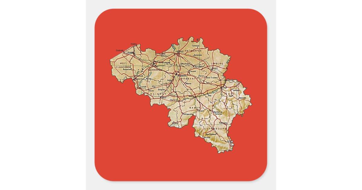 Belgium Map Sticker  Zazzle