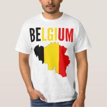 Belgium Map Text T-Shirt
