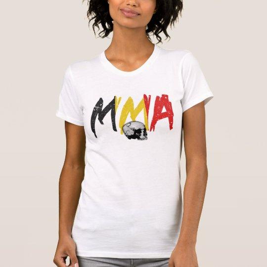 Belgium MMA Skull Ladies T-shirt