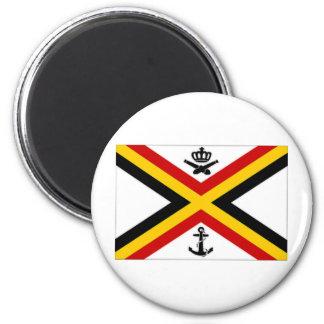 Belgium Naval Ensign Flag 2 Inch Round Magnet