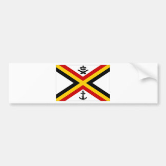 Belgium Naval Ensign Flag Bumper Sticker