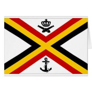 Belgium Naval Ensign Flag Card