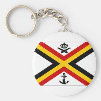 Belgium Naval Ensign Flag Keychain