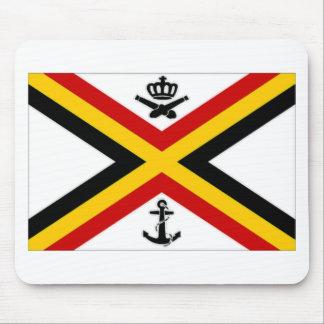 Belgium Naval Ensign Flag Mouse Pad