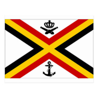 Belgium Naval Ensign Flag Postcard