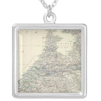 Belgium, Netherlands Square Pendant Necklace