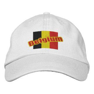Belgium Patriotic Flag And Text Cap