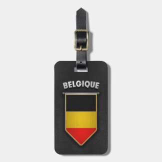 Belgium Pennant with high quality leather look Luggage Tag