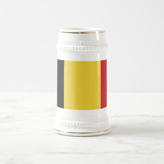 Belgium Plain Flag Beer Stein