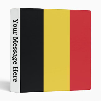 Belgium Plain Flag Binder