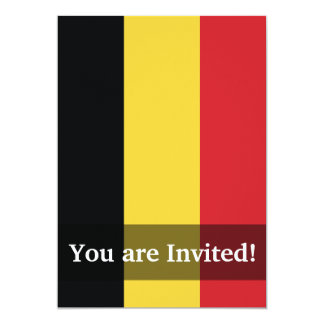 Belgium Plain Flag Card