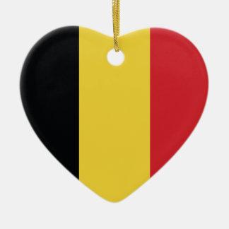 Belgium Plain Flag Ceramic Ornament