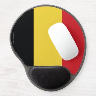 Belgium Plain Flag Gel Mouse Pads