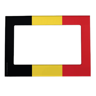 Belgium Plain Flag Magnetic Photo Frame