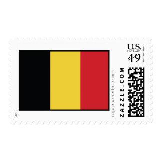 Belgium Plain Flag Postage Stamp