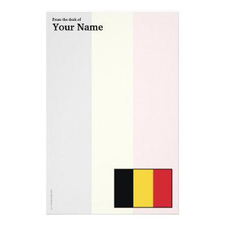 Belgium Plain Flag Stationery