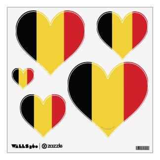 Belgium Plain Flag Wall Decal